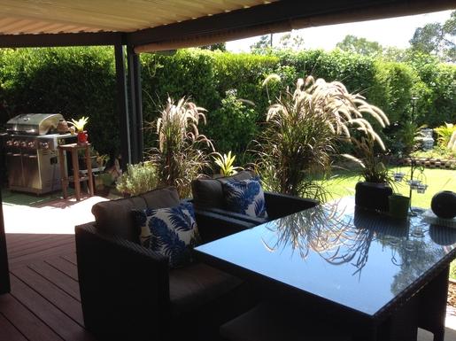 Home exchange in,Australia,Cornubia,Patio Lounge undercover area