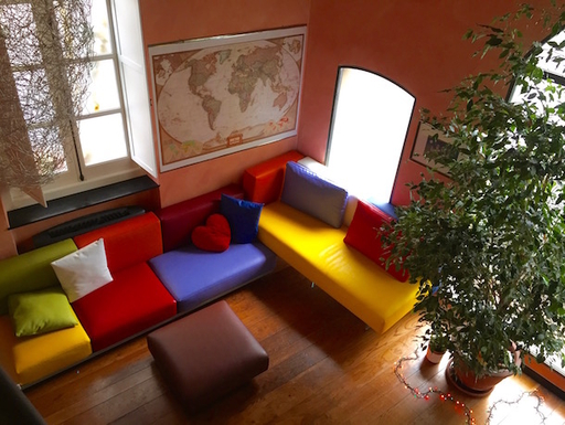 small living room at the entrance