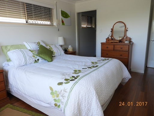 Home exchange in,Australia,Margate,Door to walk through wardrobe and ensuite.