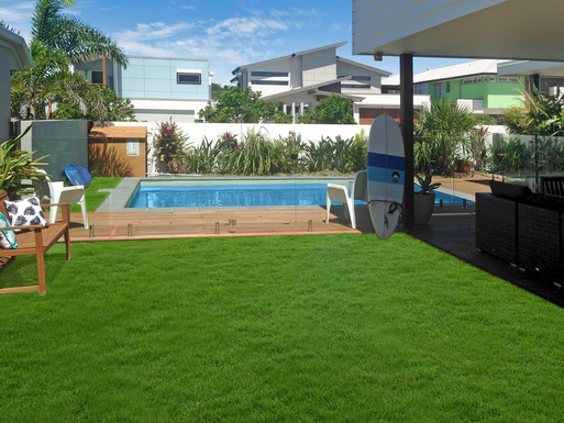 Home exchange in,Australia,MOUNT COOLUM,Grassed area for relaxing in the sunshine