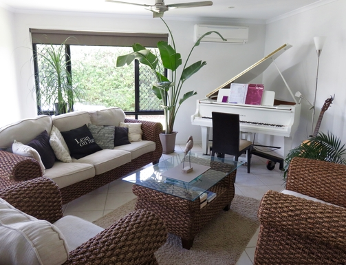 Home exchange in,Australia,peregian springs,Our baby grand piano
