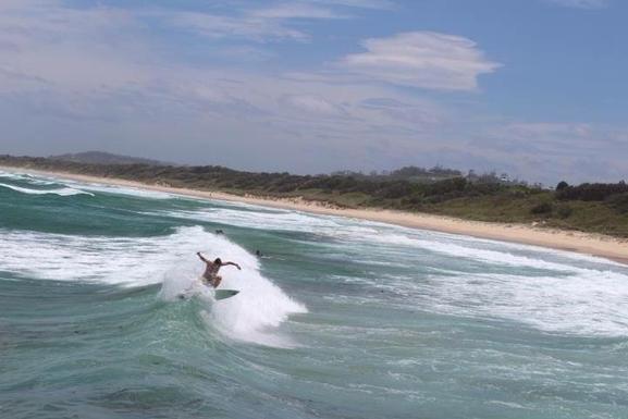 Home exchange in,Australia,WOOLGOOLGA,Surfing, Woolgoolga Headland close to our house.