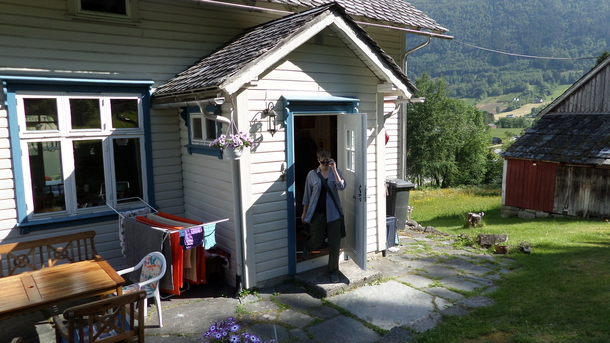BoligBytte til,Norway,Ulvik,In front where we can eat most of our meals.