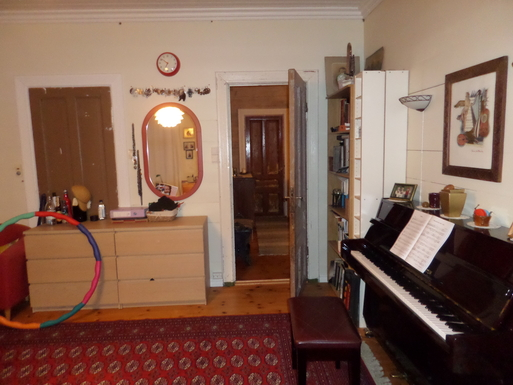 BoligBytte til,Norway,Ulvik,The piano is placet in the bedroom