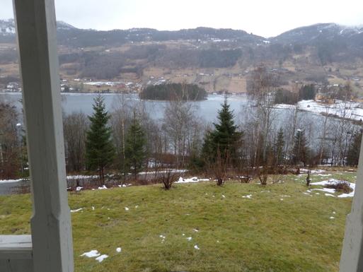 BoligBytte til,Norway,Ulvik,teken from the balkony i february