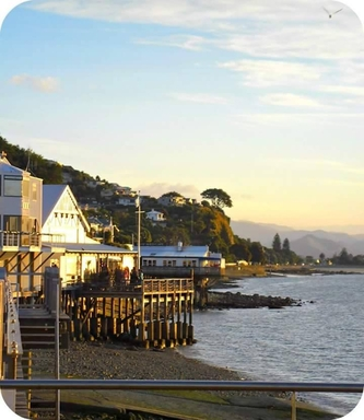 BoligBytte til,New Zealand,Nelson,view  featuring severa lwaterfront  resturants
