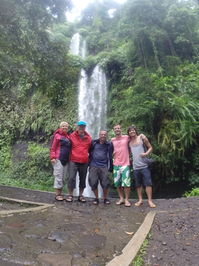 Home exchange in,Indonesia,Legian,Adventuretour to one of many waterfalls