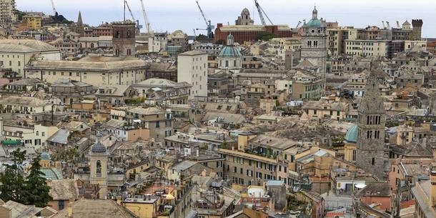 Blick auf Genua-nur wenige Gehminuten von uns