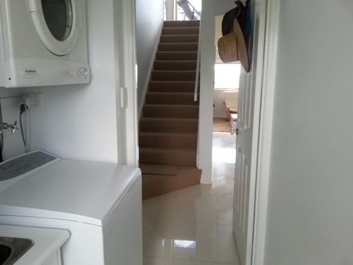 Home exchange in,Australia,MAROOCHYDORE,Laundry and stairs to upstairs