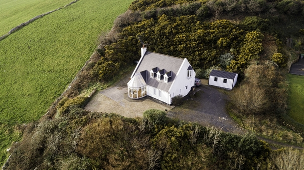 Aerial view of our delightful holiday home.