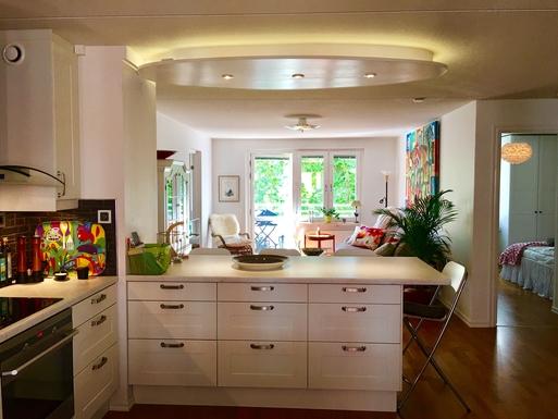 BoligBytte til,Sweden,Stockholm,Open plan kitchen/livingroom