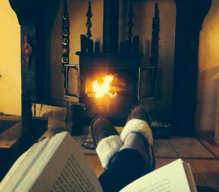 BoligBytte til,France,Oradour Sur Vayres,Wood burner in living room