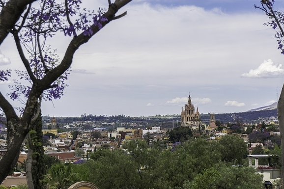 BoligBytte til,Mexico,San Miguel de Allende,View of Parroquia from from Landscaped Terraces