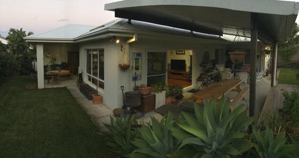 Home exchange in,Australia,POTTSVILLE,Backyard.