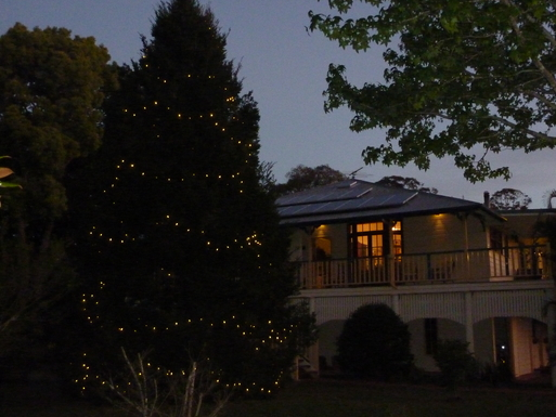 Home exchange in,Australia,Tamborine Mountain,Front view at CHristmas time