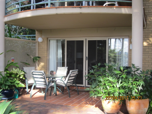 Home exchange in,Australia,TWEED HEADS,Our patio. Entrance to lounge