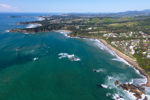 Home exchange in,Australia,KORORA,Looking south towards Coffs Harbour.