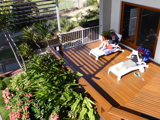 Home exchange in,Australia,WOODGATE,Relaxing on our front deck