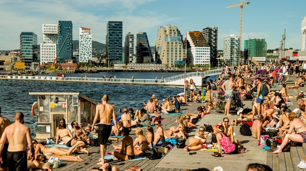 BoligBytte til,Norway,Oslo,City beach - 10 min walk from apartment