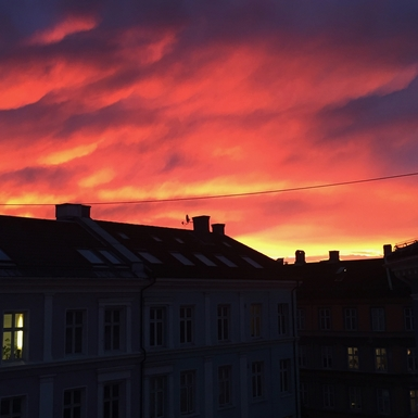 BoligBytte til,Norway,Oslo,view from our window late evening