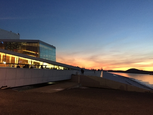 BoligBytte til,Norway,Oslo,Late evening at the Opera