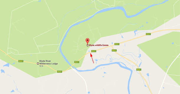 BoligBytte til,South Africa,Hoedspruit,Entrance to the estate is located on the R527