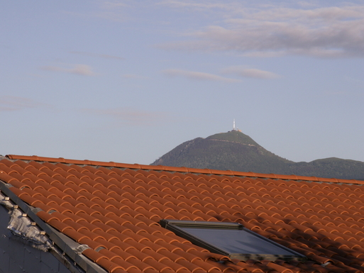 View of the Puy de Dôme from our bedroom window
