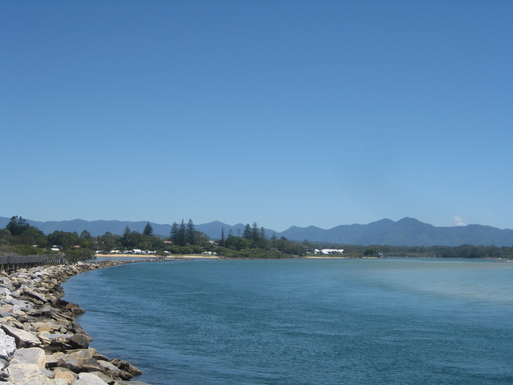 Home exchange in,Australia,Korora,View from Urunga board walk just south of Coffs.