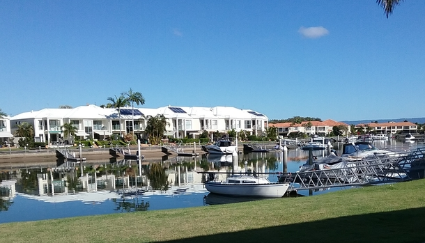 Home exchange in,Australia,RUNAWAY BAY,The view from our unit