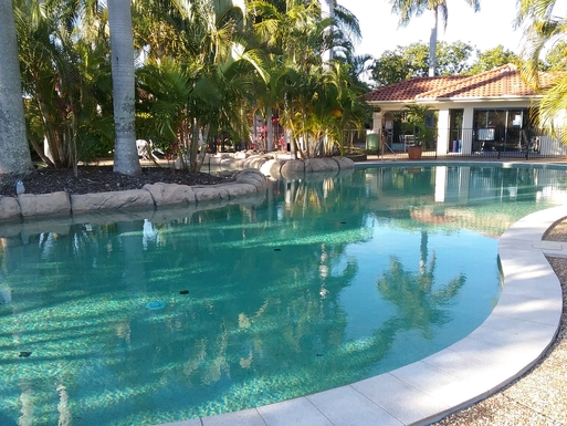 Home exchange in,Australia,RUNAWAY BAY,The pool and spa in the complex