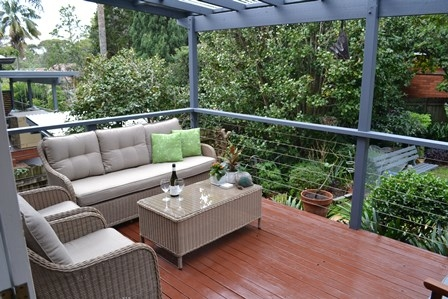 Home exchange in,Australia,Balgowlah Heights, Sydney,Northern end of covered outdoor entertainment area