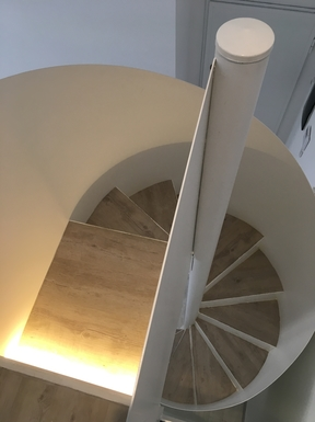 Home exchange in,Italy,Palermo,Spiral staircase