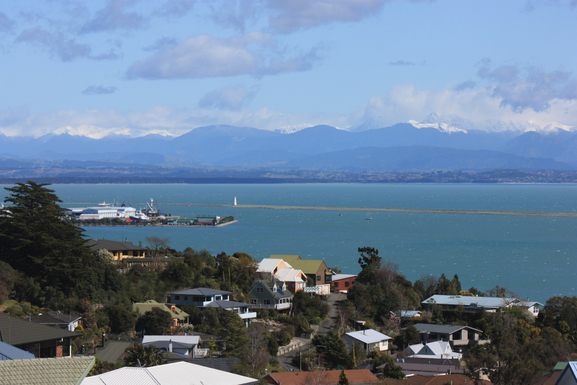 View of Port & Tasman Bay from deck