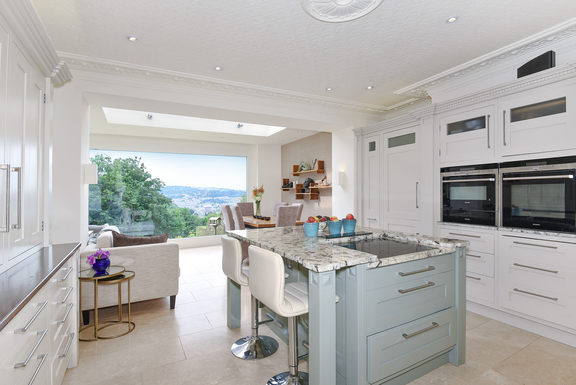 Kitchen with views out to Bath