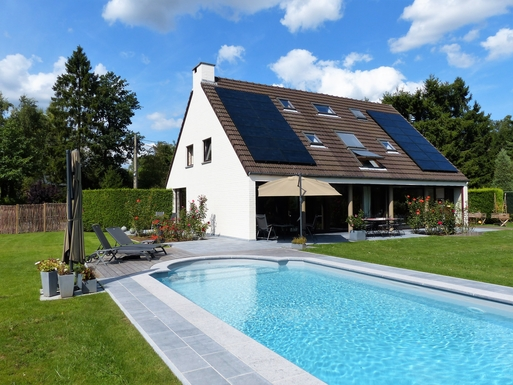 BoligBytte til,Belgium,Villers la Ville,A large garden with an heated pool