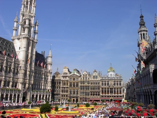 "BoligBytte til,Belgium,Villers la Ville,Brussels ""grand'place""in august"