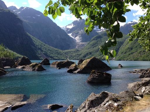 BoligBytte til,Norway,Bergen, 110k, SE,Bonhuswater and the glacier. 1 hour walk.