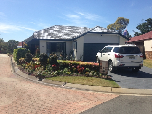 Home exchange in,Australia,Cornubia,Our house located at the end of quiet cul-de-sac