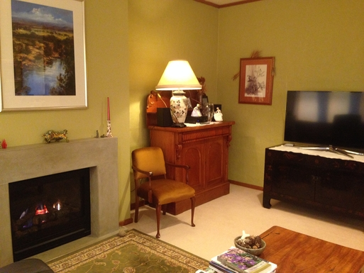 Home exchange in,Australia,CHIFLEY,Fireplace for winter evenings in informal lounge