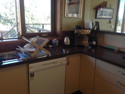 Home exchange in,Australia,CHIFLEY,Kitchen with treasured coffee machine
