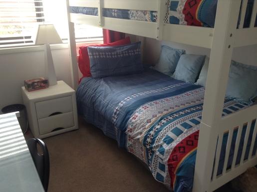 Home exchange in,Australia,Cornubia,Bedroom 2 with bunk beds