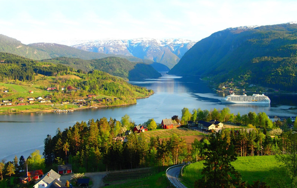 BoligBytte til,Norway,Ulvik,Ulvik. Our home just across the Fjord.