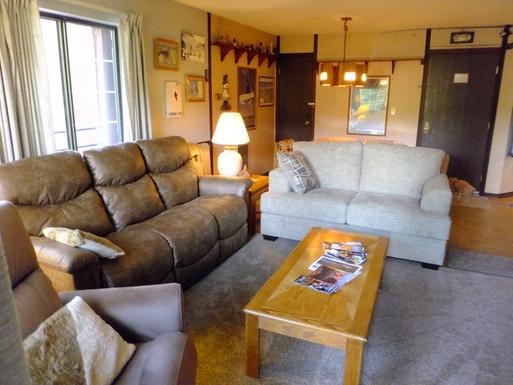 Living Room sofa has dual Lazy boy recliners