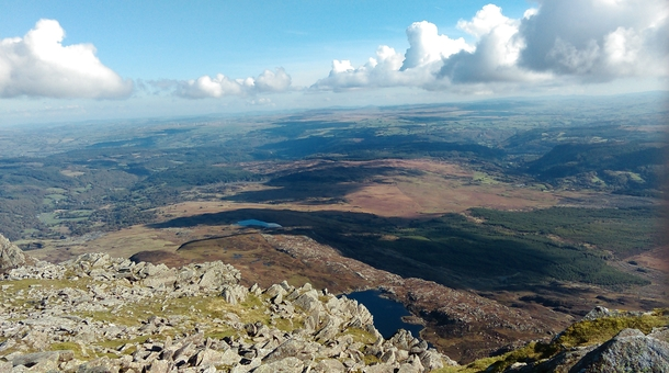 Looking over North Wales from Snowdonia