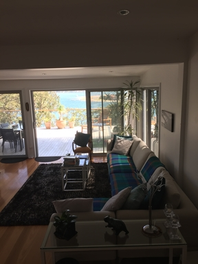Home exchange in,Australia,DALEYS POINT,Lounge looking out to deck