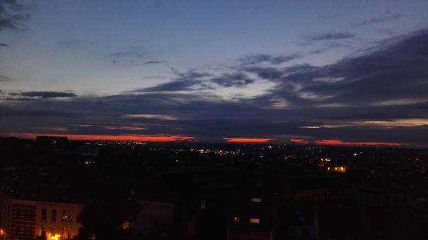 BoligBytte til,Belgium,Bruxelles,coucher de soleil depuis notre balcon