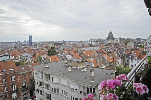 BoligBytte til,Belgium,Bruxelles,vue depuis le balcon: le palais de justice