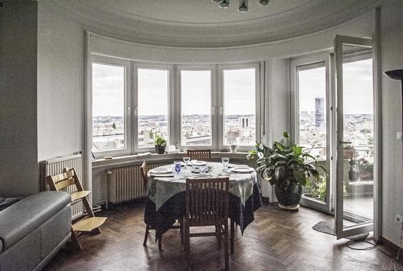 BoligBytte til,Belgium,Bruxelles,vue sur Bruxelles depuis notre salle à manger