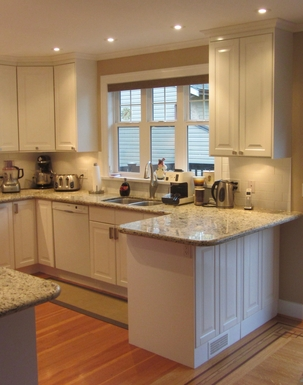 Home exchange in,Canada,Vancouver,Recently updated kitchen with granite countertops.