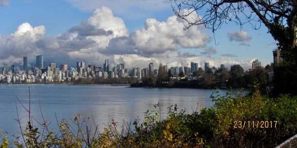 Home exchange in,Canada,Vancouver,View of downtown Vancouver (6 min walk from home).